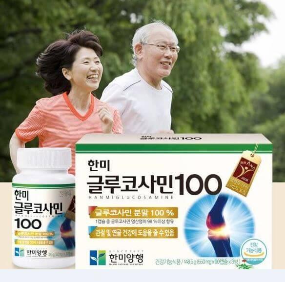 Hanmi Glucosamine 100 rất phù hợp với người cao tuổi